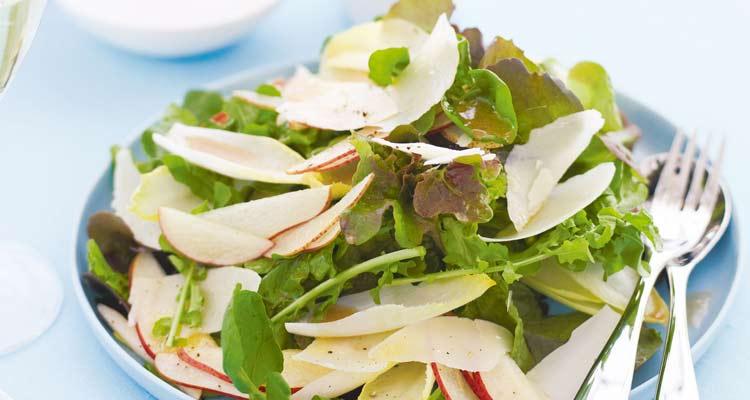 benefícios da pera - saladas