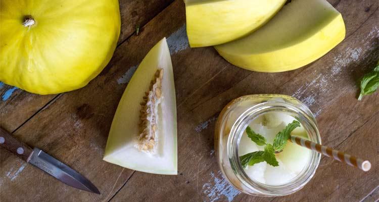 benefícios do melão contra a desidratação