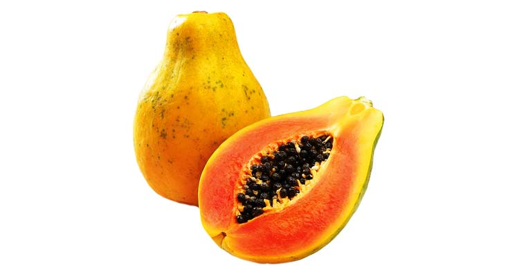 calorias do mamão papaya